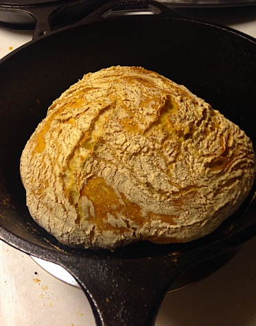 Crusty Bread in the Dutch Oven