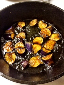Shallow Frying Eggplant