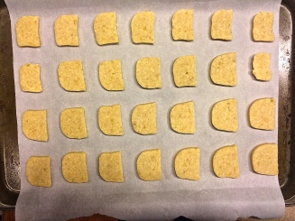 Cheddar and Parmesan Crackers Ready for the Oven