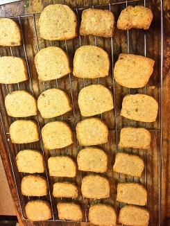 Cheddar and Parmesan Crackers
