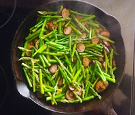Asparagus and Mushrooms