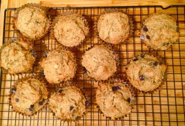 Vegan Banana-Blueberry Muffins