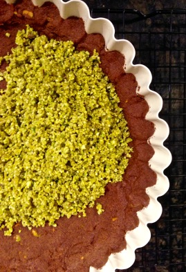 Cocolate Pistachio Tart