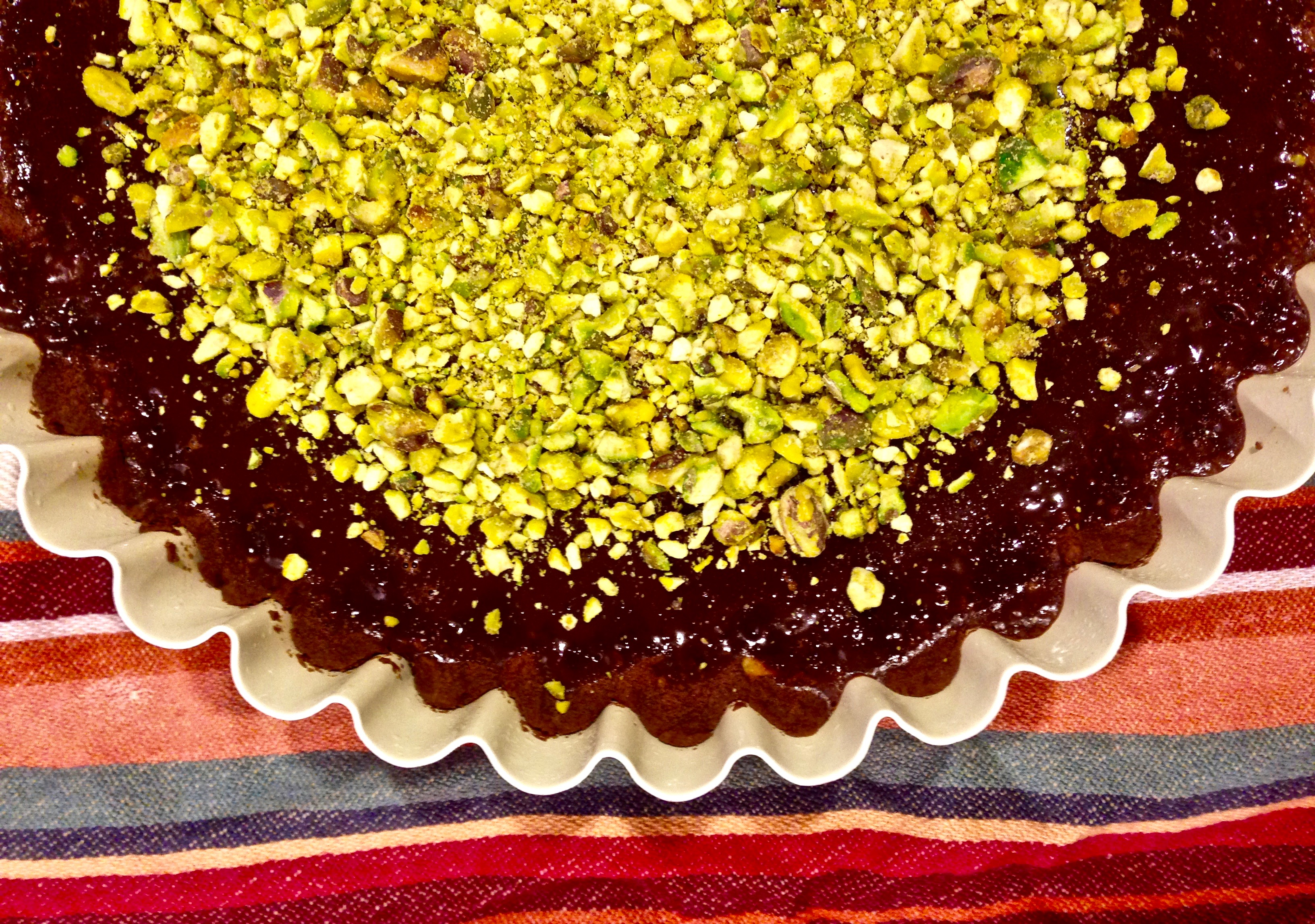 Chocolate Pistachio Tart and Our One Year Anniversary – One Half ...