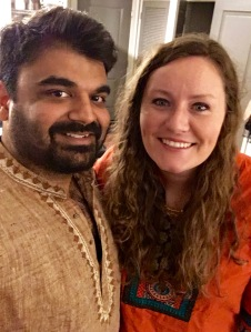 Rajat and I on Karva Chauth