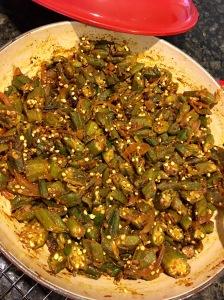 Bhindi Sabzi for Diwali